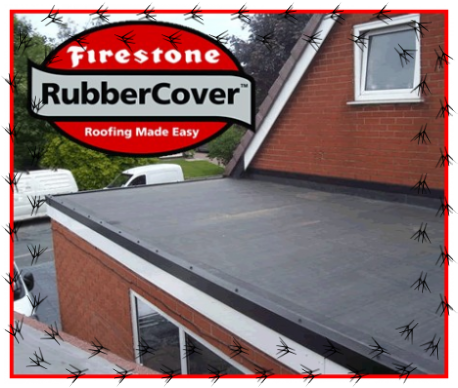 Firestone Epdm Rubbercover,single ply installers,flat roofing,garage roofs
